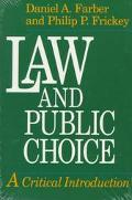Law and Public Choice A Critical Introduction