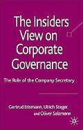 Corporate Governance: The Role of the Company Secretary