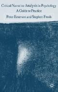 Critical Narrative Analysis in Psychology: A Guide to Practice (0)