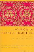 Sources of Japanese Tradition 1600 to 2000