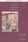 Early Modern Japanese Literature