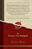 Thirty-Third Report of the Trustees of the Boston City Hospital, with Report of the Superint...