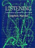 Listening An Introduction to the Perception of Auditory Events
