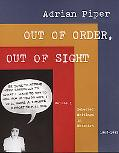Out of Order, Out of Sight Selected Writings in Meta-Art 1968-1992