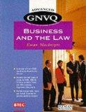 Advanced Gnvq Business and the Law Pb