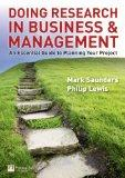 Doing Research in Business & Management: An Essential Guide to Planning Your Project