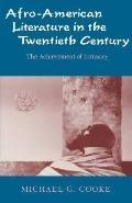 Afro-American Literature in the Twentieth Century The Achievement of Intimacy