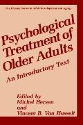 Psychological Treatment of Older Adults An Introductory Text