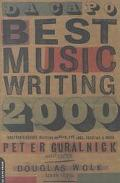 Da Capo Best Music Writing 2000