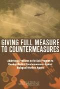 Giving Full Measure to Countermeasures Addressing Problems in the Dod Program to Develop Med...