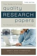 Quality Research Papers : For Students of Religion and Theology
