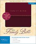 Family Bible Burgundy, Italian Duo-tone