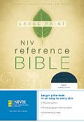 Holy Bible Large Print New International Version/ Navy Bonded Leather-Reference/ Personal Si...