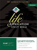 Life Application Study Bible New American Standard Bible, Black Bonded Leather, Thumb Indexed