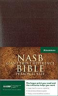Giant Print Reference Bible New American Standard Bible, Burgundy Leather-look, Premium Pers...