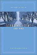 New International Version Starting Point Study Bible For New and Recommitted Believers, Navy...
