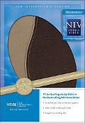 NIV Study Bible Taupe/Mahogany European Leather