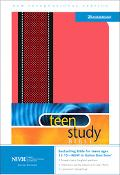 Teen Study Bible New International Version, Red- Black- Italian Duotone-textured