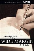 Zondervan Niv Wide Margin Bible Black Bonded Leather