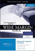 Zondervan Niv Wide Margin Bible Navy Bonded Leather
