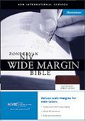 Zondervan Niv Wide Margin Bible Burgundy Bonded Leather