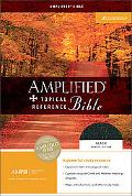 Amplified Topical Reference Bible Black, Bonded Leather