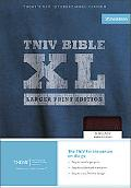 Holy Bible Today's New International Version, Burgundy, Bonded Leather, Thumb Indexed, XLThi...