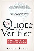 Quote Verifier Who Said What, Where, And When