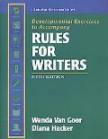 Rules for Writers Developmental Exercises