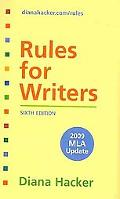 Rules for Writers with Tabs with 2009 MLA Update & Research Pack