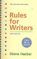Rules for Writers 6e with 2009 MLA Update & Research and Documentation in the Electronic Age...