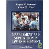 Management and Supervision in Law Enforcement :