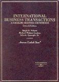 International Business Transactions: A Problem-Oriented Coursebook
