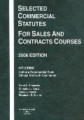 Selected Commercial Statutes, 2006