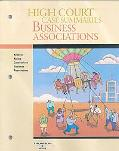 High Court Case Summaries on Business Associations-keyed to Klein