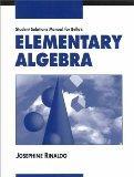 Student Solutions Manual for Bello's Elementary Algebra
