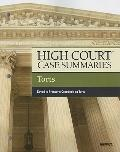 High Court Case Summaries on Torts, Keyed to Prosser