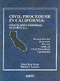 Kane and Levine's Civil Procedure in California : State and Federal Supplemental Materials f...