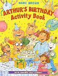 Arthur's Birthday Activity Book With Reusable Vinyl Stickers