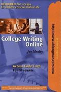 College Writing Online Access Code Card for Students