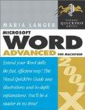 Word 2001/X Advanced for Macintosh: Visual QuickPro Guide
