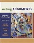 Writing Arguments A Rhetoric With Readings