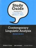Study Guide for Contemporary Linguistic Analysis: An Introduction, Seventh Edition