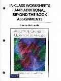 In Class Worksheets and Additional Beyond the Book Assignments for Analytical Chemistry and ...