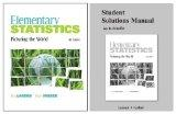Elementary Statistics: Picturing the World, Student Solutions Manual, and MyStatLab (5th Edi...