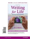 Writing for Life: Sentences and Paragraphs, Books a la Carte Plus MyWritingLab with eText --...