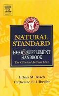 Natural Standard Herb & Supplement Handbook The Critical Bottom Line