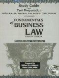 Fundamentals of Business Law: Study Guide and Test Preparation with CDROM