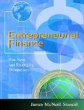 Entrepreneurial Finance For New and Emerging Businesses