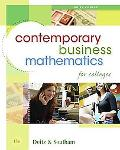 Contemporary Business Mathematics for Colleges, Brief Edition (with CD-ROM)